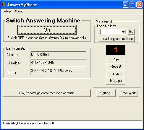 mailbox answering machine